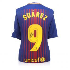 Luis Suarez Signed Barcelona 2017-18 Football Shirt