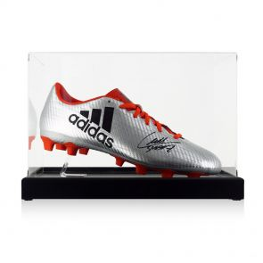 Luis Suarez Signed Football Boot In Display Case