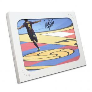 Luis Suarez Signed Photo In Gift Box