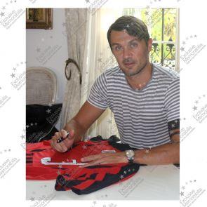 Paolo Maldini Signed 2007-08 AC Milan Home Shirt