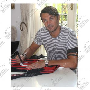 Paolo Maldini Signed 2009 AC Milan Player Issue 'Farewell' Home Shirt
