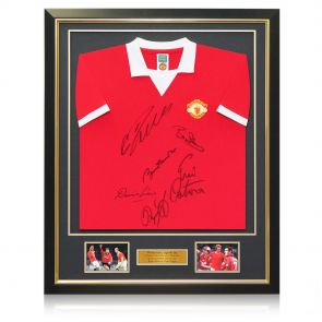 Framed Multi Signed Manchester United Shirt