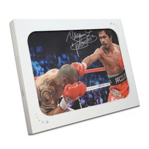Manny Pacquiao Signed Boxing Photo In Gift Box