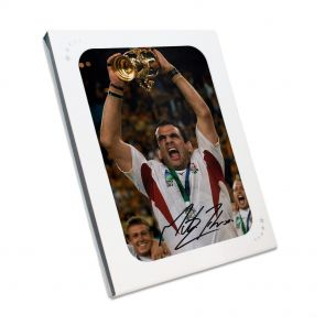 Martin Johnson Signed Photo In Gift Box