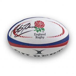 Martin Johnson signed rugby ball