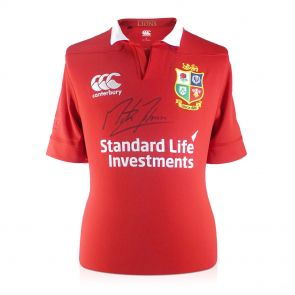 Martin Johnson Signed British Lions Rugby Shirt In Gift Box