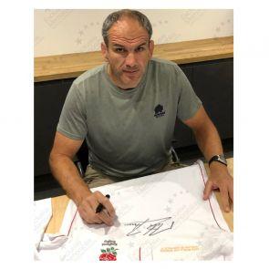 Jonny Wilkinson, Martin Johnson And Jason Robinson Signed England Rugby Shirt. Deluxe Frame