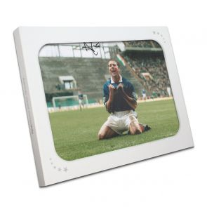 Ally McCoist Signed Rangers Photo: Scottish Cup Semi Final In Gift Box