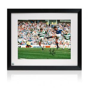 Ally McCoist Signed Rangers Photo: Old Firm Derby Framed