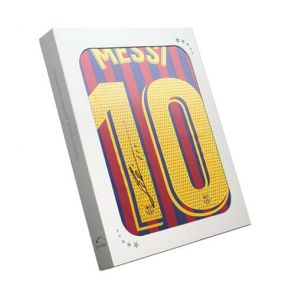 Lionel Messi Signed Barcelona Shirt 2018-19 In Gift Box