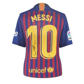 Lionel Messi Signed Barcelona Shirt 2018-19
