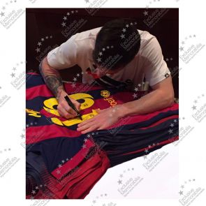 Lionel Messi Signed 2014-15 Barcelona Football Shirt