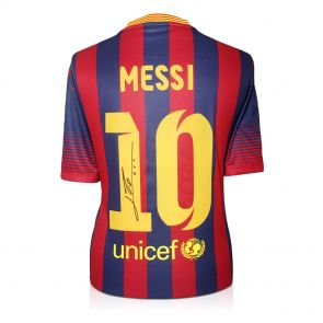 Signed Leo Messi Shirt 2013-14
