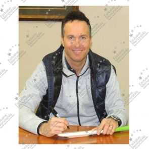 Michael Vaughan Signed Gunn And Moore Mini Cricket Bat