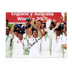 Michael Vaughan Signed Ashes Photo