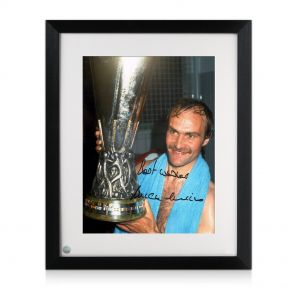 Mick Mills Signed Ipswich Photo