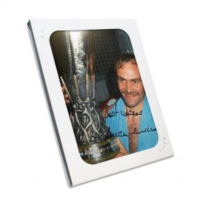Mick Mills Signed Ipswich Photo