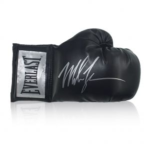 Mike Tyson Signed Black Boxing Glove In Gift Box
