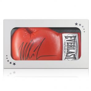 Signed Tyson boxing glove In Gift Box