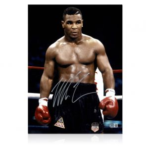 Mike Tyson Signed Boxing Photo: Baddest Man On The Planet