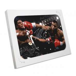 Mike Tyson Signed Boxing Photo: Becoming World Champion. In Gift Box