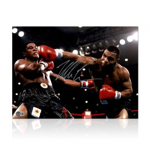 Mike Tyson Signed Boxing Photo: Becoming World Champion