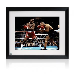 Mike Tyson Signed Boxing Photo: Tyson Vs Bruno. Framed