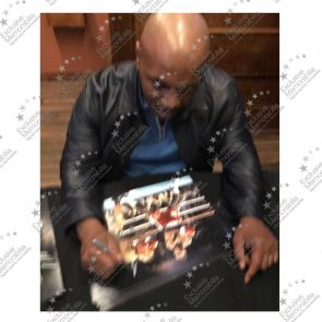 Mike Tyson And Frank Bruno Signed Boxing Photo. In Gift Box