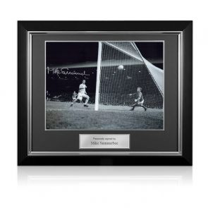 Mike Summerbee Signed Manchester City Photo. Deluxe Frame