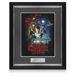 Millie Bobby Brown Signed Stranger Things Poster. Deluxe Frame