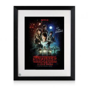 Millie Bobby Brown Signed Stranger Things Poster. Framed