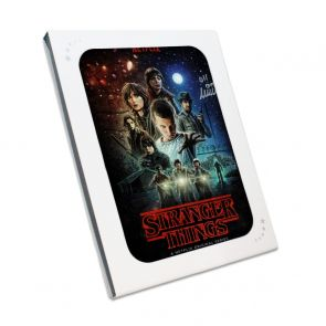 Millie Bobby Brown Signed Stranger Things Poster. In Gift Box