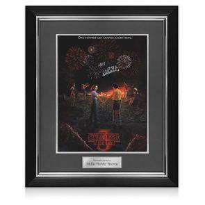 Millie Bobby Brown Signed Stranger Things Season 3 Poster. Deluxe Frame