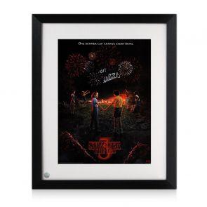 Millie Bobby Brown Signed Stranger Things Season 3 Poster. Framed