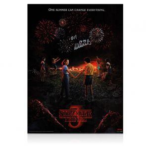 Millie Bobby Brown Signed Stranger Things Season 3 Poster. In Gift Box