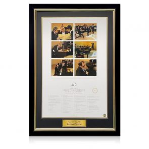 Andre Previn Signed Morecambe And Wise Print: Grieg's Piano Concerto. Deluxe Frame