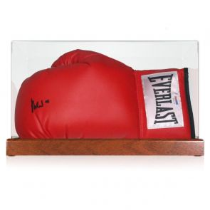 Muhammad Ali Signed Boxing Glove (PSA DNA 5A46978). In Display Case