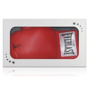 Muhammad Ali Signed Boxing Glove (PSA DNA 5A46978). Gift Box