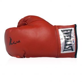 Muhammad Ali Signed Boxing Glove In Display Case (PSA DNA 4A54131)