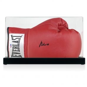Muhammad Ali Signed Boxing Glove In Display Case (PSA DNA 4A53395)