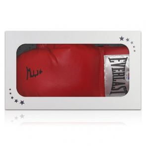 Muhammad Ali Signed Boxing Glove (PSA DNA 6A07662). Gift Box