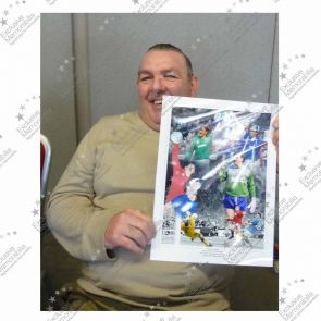 Neville Southall Signed Everton Photo. Deluxe Frame