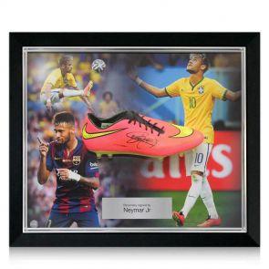 Neymar signed and framed football boot