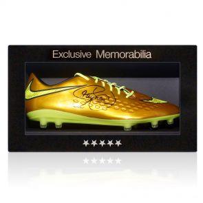 Signed Neymar Soccer Shoe In Gift Box
