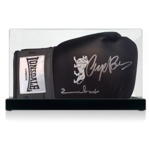 Nigel Benn & Chris Eubank Signed Glove In DIsplay Case