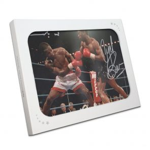 Signed Nigel Benn and Chris Eubank Photo In Gift Box