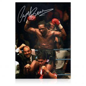 Nigel Benn Signed Boxing Photo: WBC Super Middleweight Champion In Gift Box