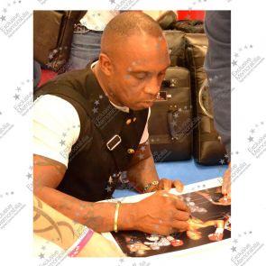 Nigel Benn Signed Boxing Photo: Dark Destroyer In Gift Box