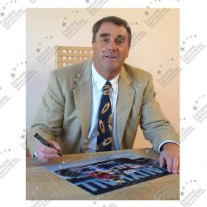 Nigel Mansell Signed Photograph: Taxi For Senna