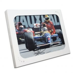 Signed Nigel Mansell Ayrton Senna Photo In Gift Box